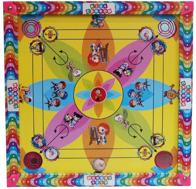 Forever online shopping 17 by 17 17 inch Carrom Board(Multicolor)