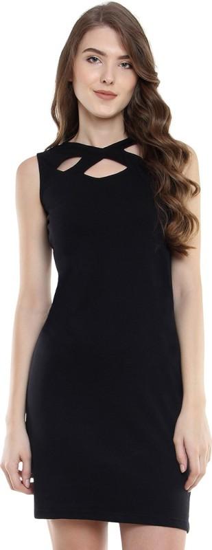 Miss Chase Women Bodycon Black Dress
