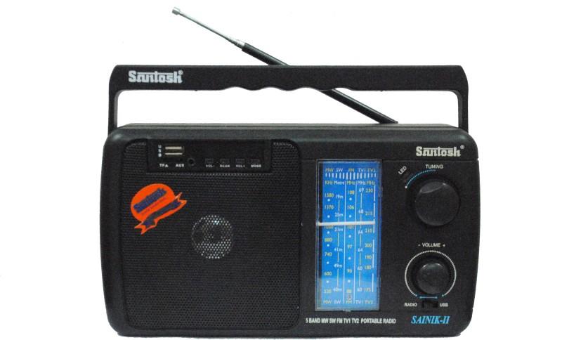 Santosh Sainik 2 FM Radio(Black)