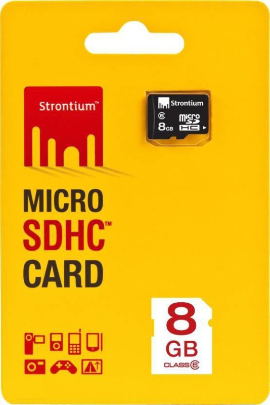 Strontium 1 8 GB SD Card Class 6 20 MB/s  Memory Card image