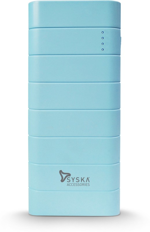 Syska 10000 mAh Power Bank (Fast Charging, 10 W)(Blue, Lithium-ion)