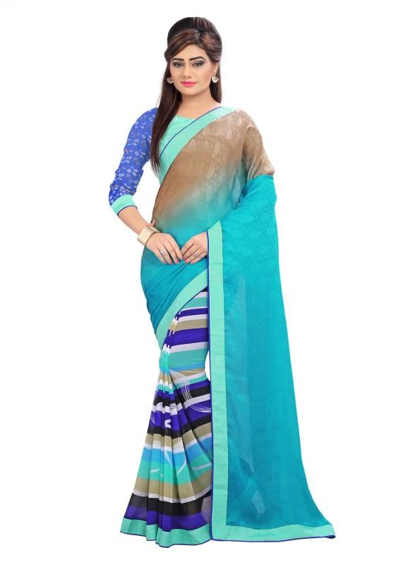 Divastri Self Design Fashion Georgette, Jacquard Saree(Multicolor)