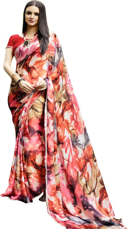 Shaily Retails Self Design Fashion Satin, Silk Saree(Multicolor)