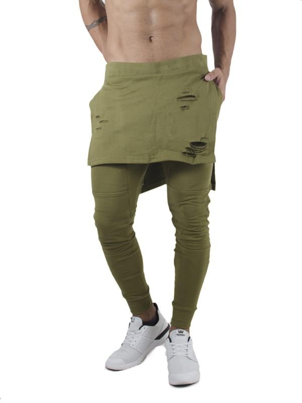 Fugazee Solid Men's Green Track Pants