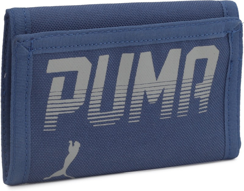 Puma Men Blue Fabric Wallet(2 Card Slots)