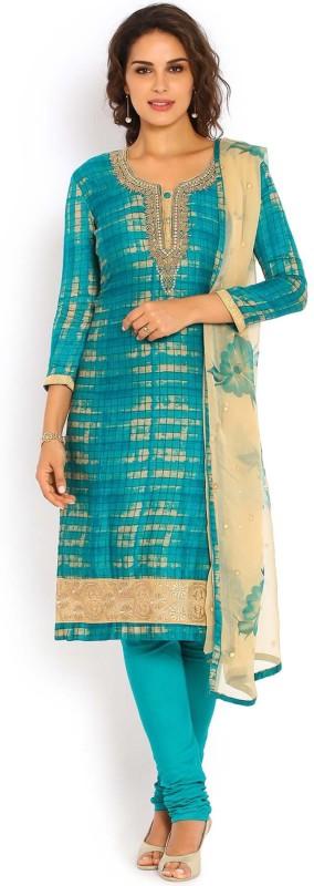 Soch Cotton Embroidered Salwar Suit Dupatta Material(Un-stitched)