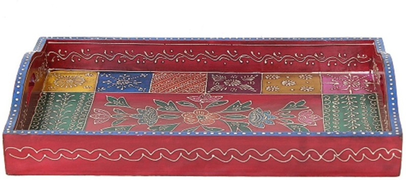 APKAMART Handcrafted Wooden Serving Platter for Table Decoration and Gifts Tray