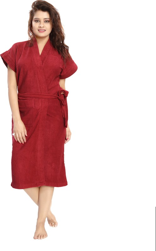 Shopping World Marron Free Size Bath Robe(1 Bath Robe, For: Women, Marron)