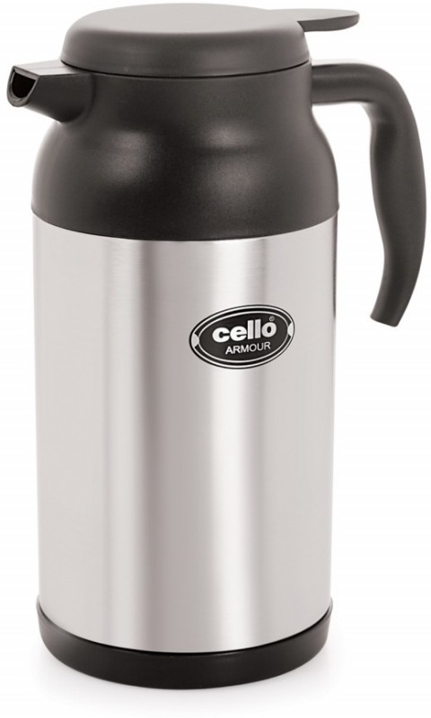 Cello Armour Stainless Steel Flask 2000 ml Flask(Pack of 1, Steel/Chrome)