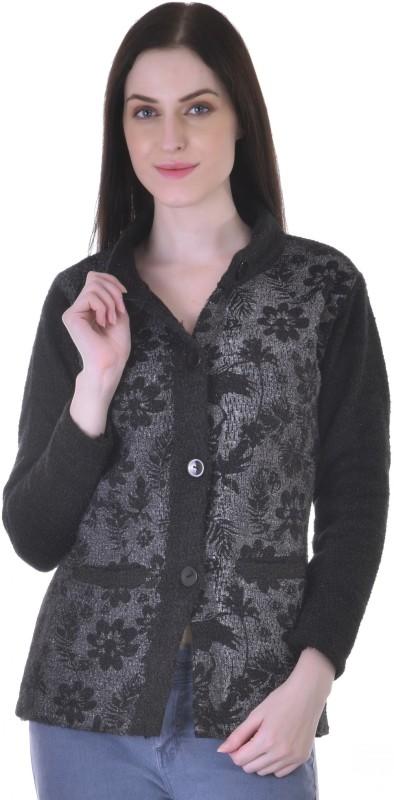 Christy World Womens Button Cardigan