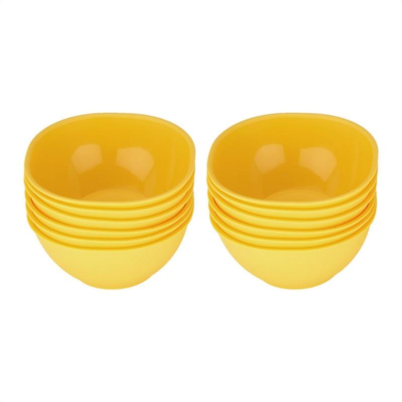 Jaypee Combo Le Dinner Bowl Set Plain,Yellow Pack of 12 Dinner Set(Polypropylene)