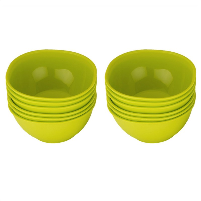 Jaypee Combo Le Dinner Bowl Set Plain,Green Pack of 12 Dinner Set(Polypropylene)