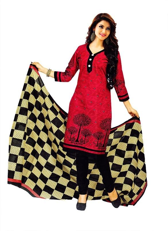 Shree Ganesh Crepe Printed Salwar Suit Dupatta Material(Un-stitched)