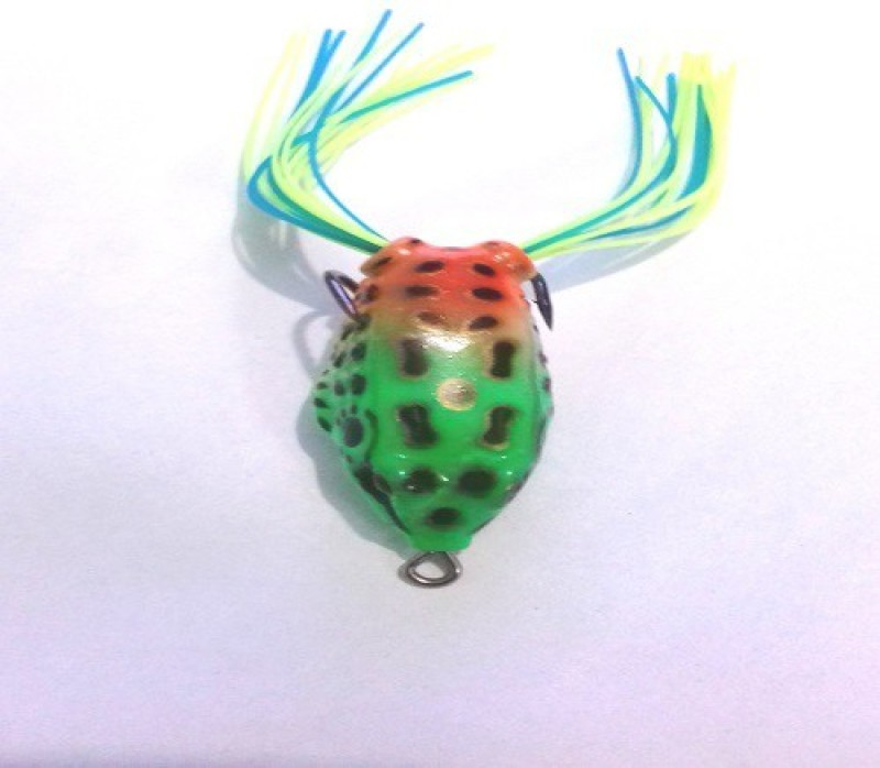 JUST ONE CLICK Frog Fishing Soft Lure Hooks green / yellow Soft Bait Fishing Lure(Pack of 1 Size 5)