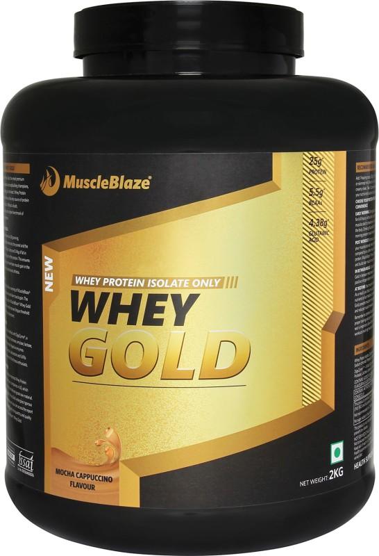 MuscleBlaze Whey Gold Whey Protein(2 kg, Mocha Cappuccino)