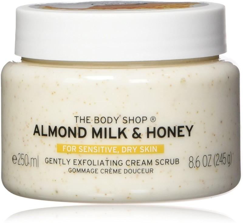 The Body Shop Almond Milk & Honey Scrub(250 ml)