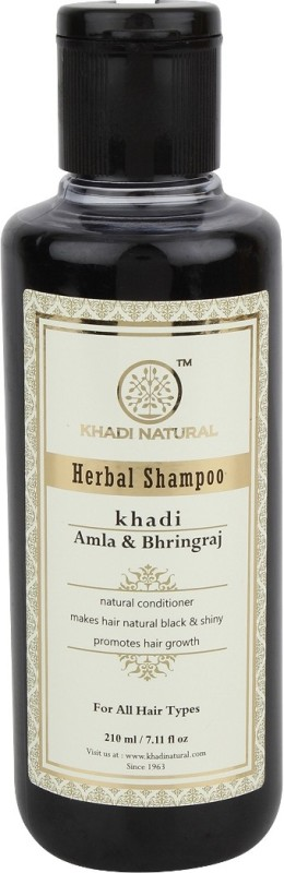 Khadi Natural Herbal Amla & Bhringraj Shampoo(210 ml)