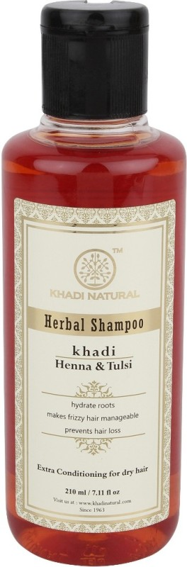Khadi Natural Herbal Henna & Tulsi Shampoo(210 ml)