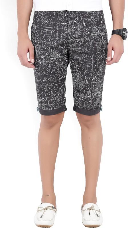 Lee Printed Mens White, Grey Bermuda Shorts