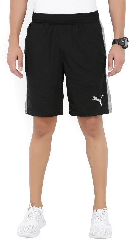 Puma Solid Mens Black Sports Shorts