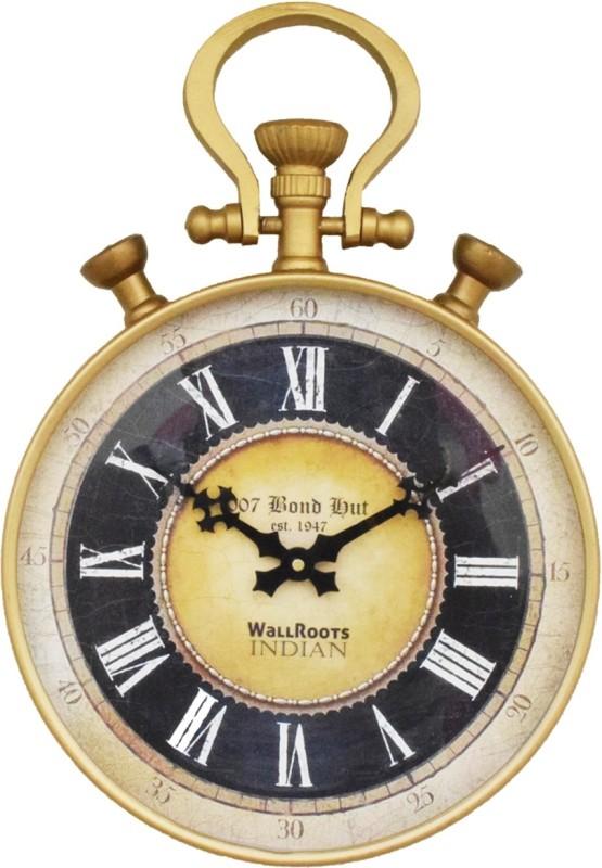007 bond hut Analog Wall Clock(Metallic, With Glass)