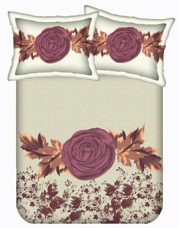 The Intellect Bazaar 170 TC Cotton Double King Printed Bedsheet(1 Cotton Double Bedsheet with 2 pillow covers, Multicolor)