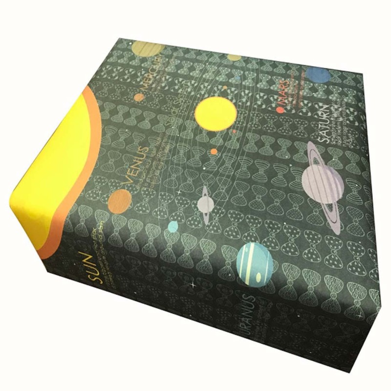 EVINCE GIFT WRAPPING PAPER our solar system to know PAPER Gift Wrapper(black and blue)