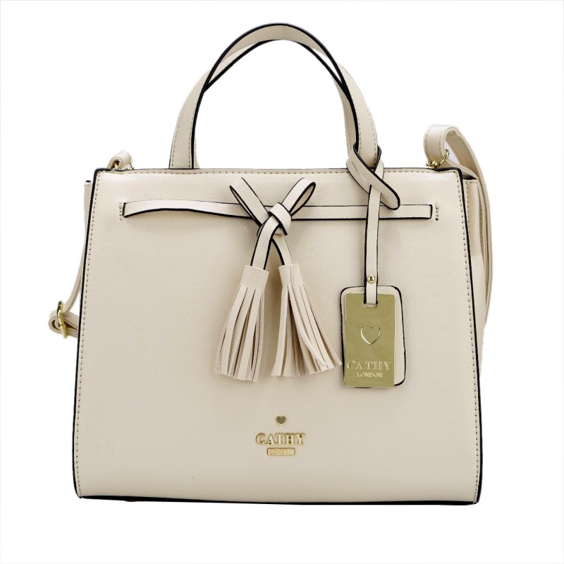 Cathy London Hand-held Bag(Beige)