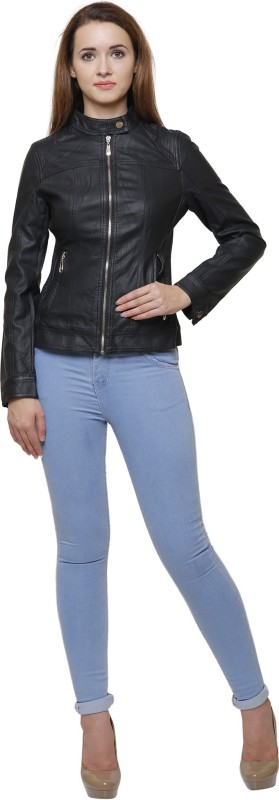 MansiCollections Full Sleeve Solid Womens Riding Jacket Jacket
