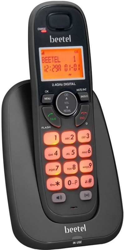 Beetel BT-X70 Cordless Landline Phone(Black)