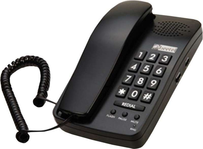 Beetel BT-B15 Corded Landline Phone(Black)