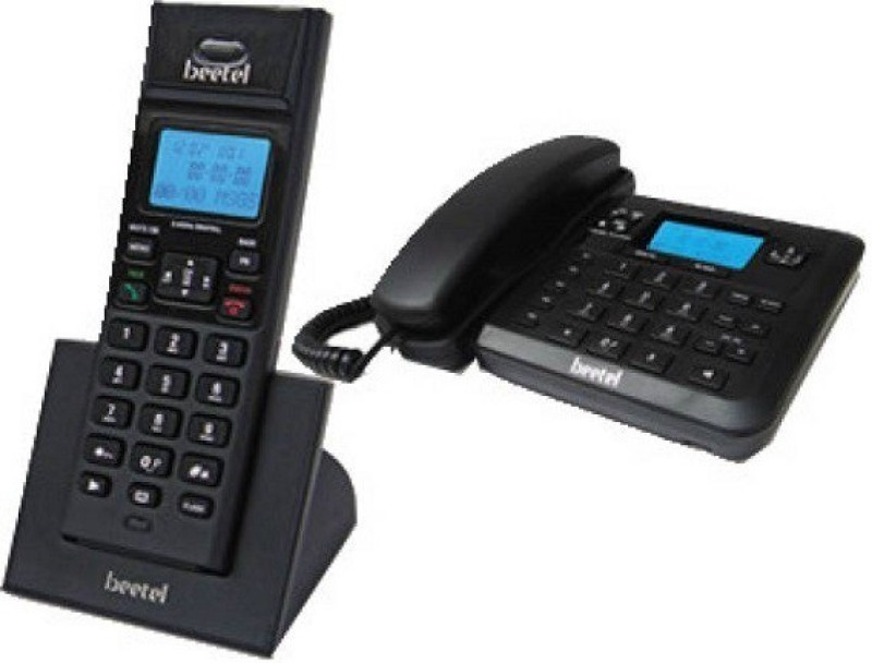 Beetel BT-X78 Cordless Landline Phone(Black)