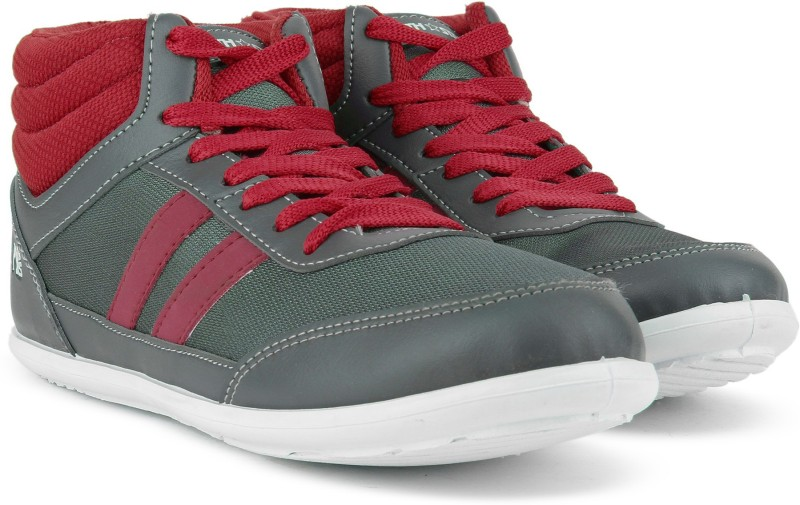 Bata ANMOL HIGH Mid Ankle Sneakers(Red, Grey)