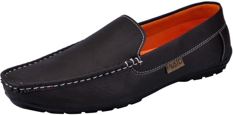 FAUSTO Men's Loafers, Espadrilles, Slip On Sneakers(Brown)