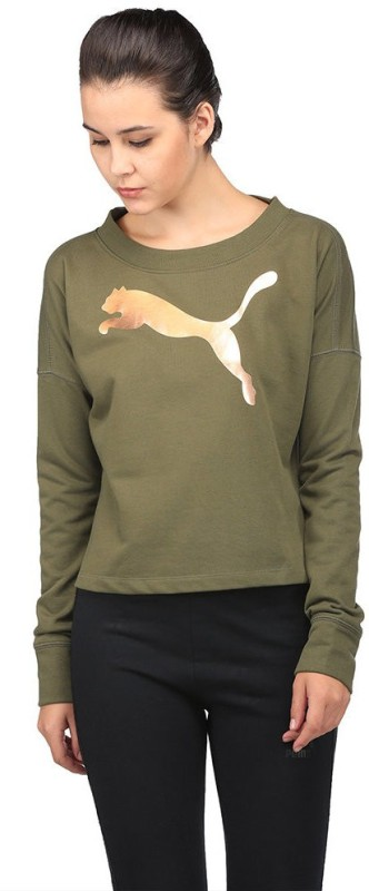 Puma Full Sleeve Graphic Print Women Sweatshirt