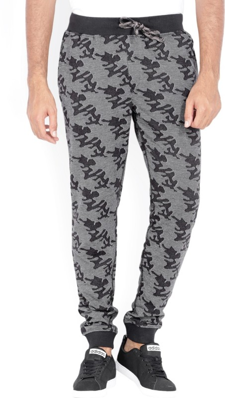 John Players Printed Mens Black Track Pants