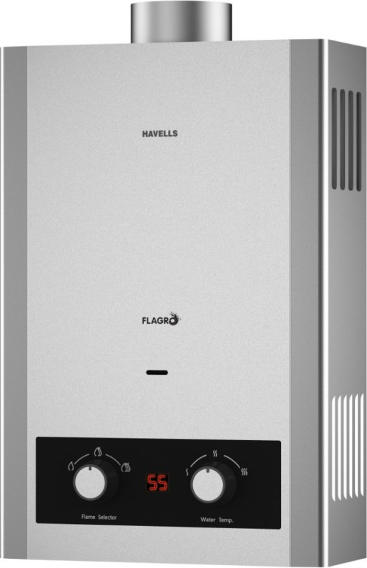 Havells 6 L Gas Water Geyser(Silver, Flagro 6L Silver)