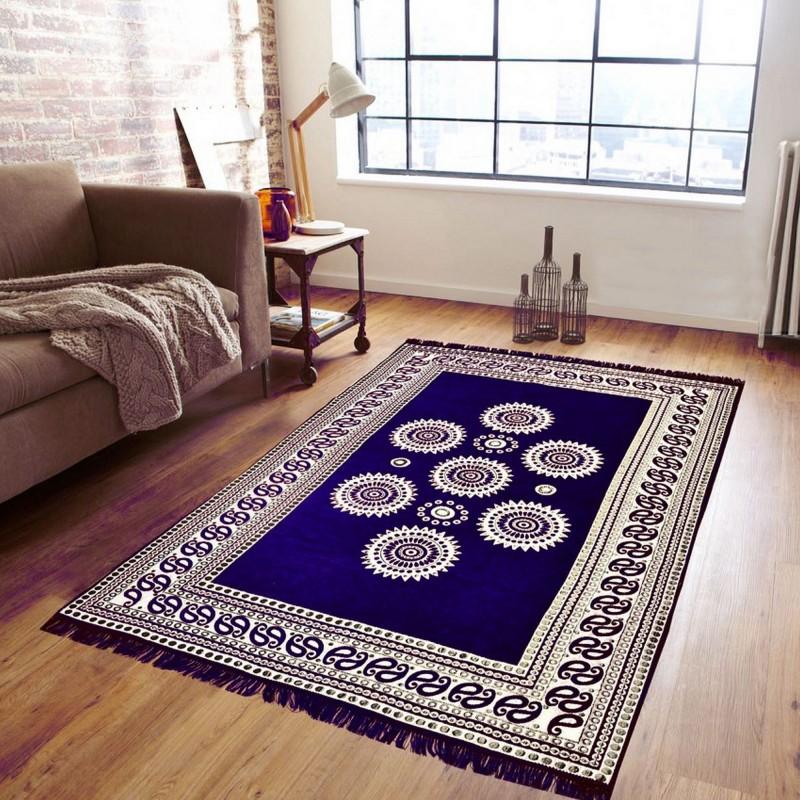 Supreme Home Collective Blue Velvet Carpet(147 cm X 208 cm)