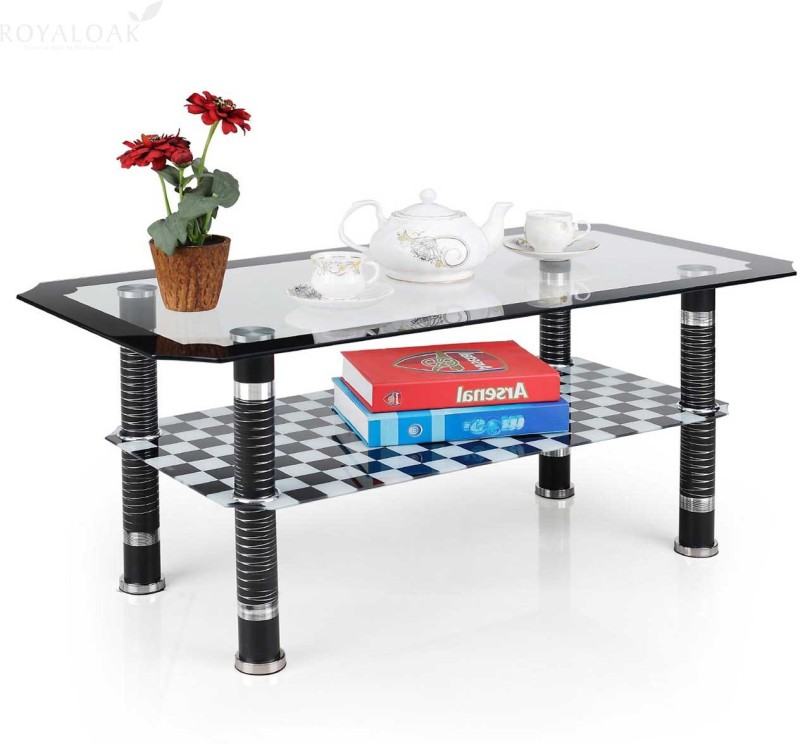 RoyalOak KANVA Metal Coffee Table(Finish Color - Black)