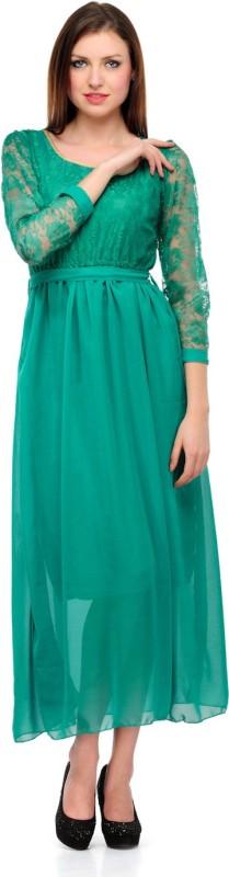 Klick Women's Maxi Green Dress