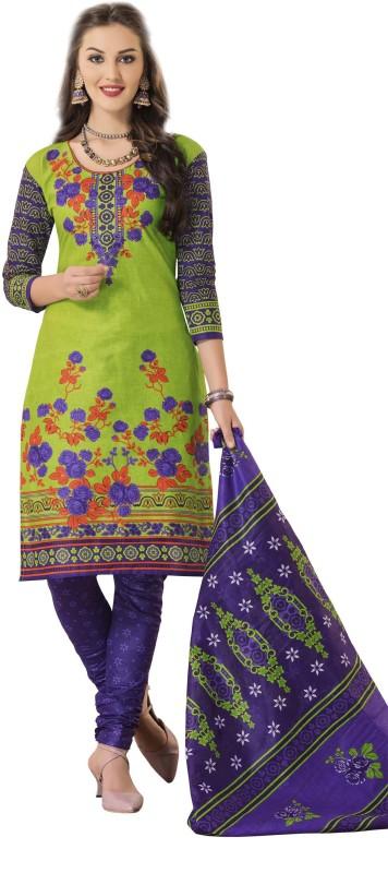 HRINKAR Cotton Printed Salwar Suit Dupatta & Waistcoat Material, Salwar Suit Dupatta...