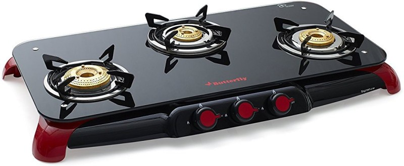 Butterfly Signature 3 Burner Glass Manual Gas Stove(3 Burners)