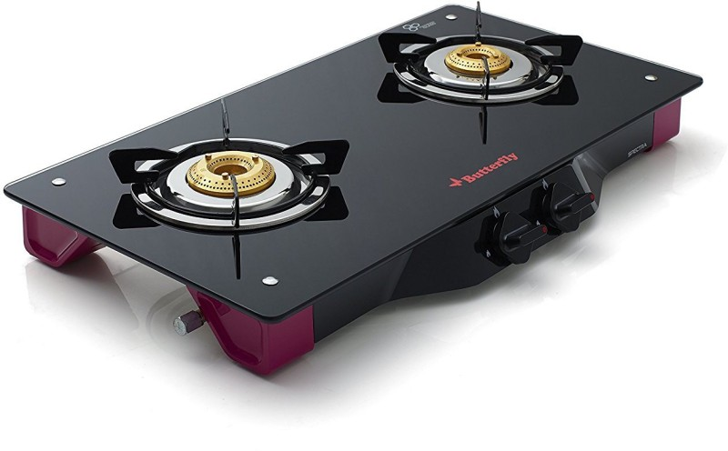 Butterfly Spectra 2 Burner Glass Manual Gas Stove(2 Burners)