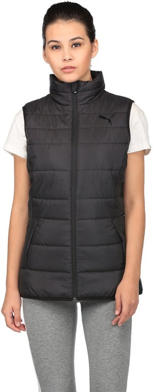 Puma Sleeveless Solid Women Sports Jacket