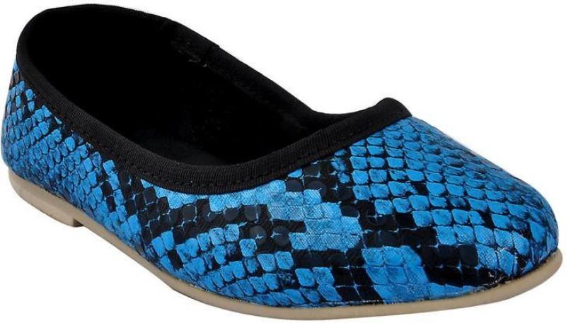 Beanz Girls Slip on Formal Boots(Blue)
