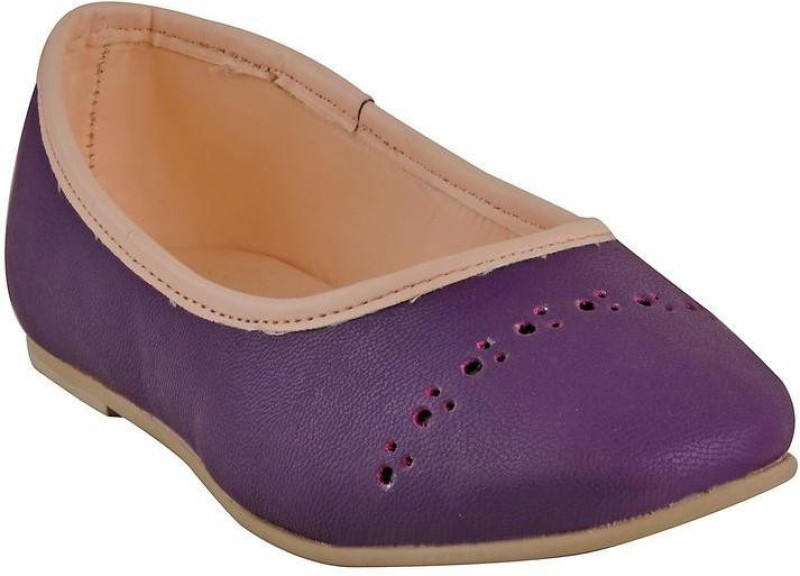 Beanz Girls Slip on Formal Boots(Purple)