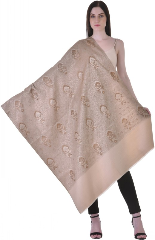 Christys Collection Polyester Wool Blend Printed Womens Shawl(Multicolor)