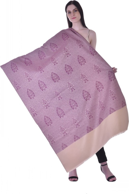 Christys Collection Polyester Wool Blend Printed Womens Shawl(Beige)