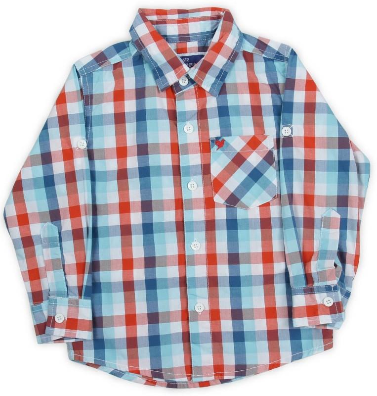 612 League Boys Checkered Casual Shirt