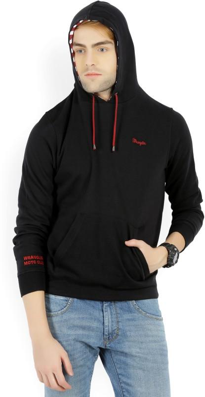 Wrangler Full Sleeve Self Design Mens Sweatshirt